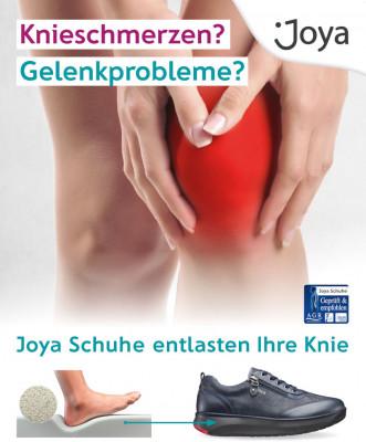 Kneeschmerzen? Gelenkprobleme? Joya Schuhe entlasten Ihre Knie